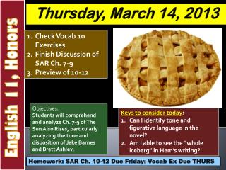 Thursday , March  14,  2013