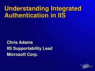 Understanding Integrated Authentication in IIS