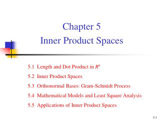 Chapter 5  Inner Product Spaces