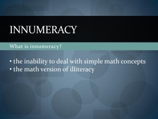 INNUMERACY