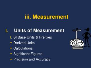 iii. Measurement