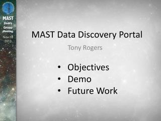 MAST Data Discovery Portal