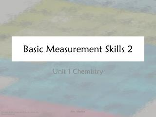 Basic Measurement Skills 2