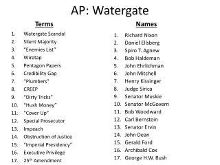 AP: Watergate