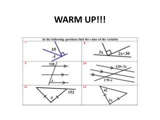 WARM UP!!!