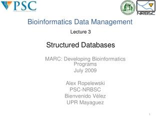 Bioinformatics Data Management