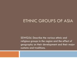 Ethnic groups of Asia