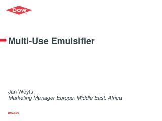 Multi-Use Emulsifier