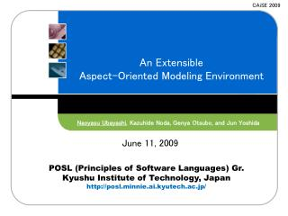 An Extensible Aspect-Oriented Modeling Environment