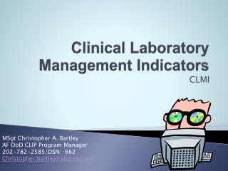 Clinical Laboratory Management Indicators