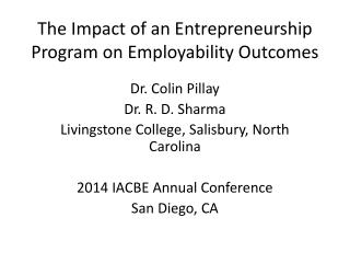 The Impact of an Entrepreneurship Program on Employability Outcomes