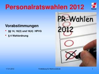Personalratswahlen 2012