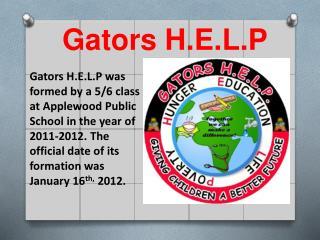 Gators H.E.L.P