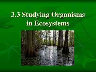 3.3 Studying Organisms in Ecosystems