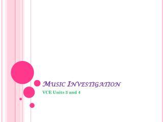 Music Investigation