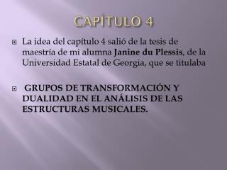 CAP ÍTULO 4