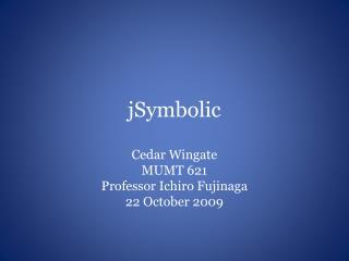 jSymbolic