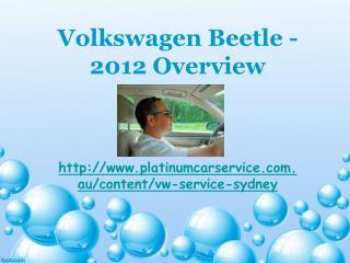 Volkswagen Beetle - 2012 Overview