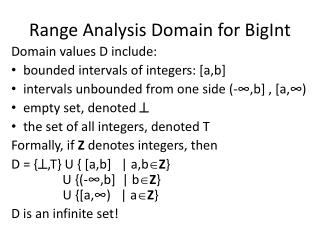 Range Analysis Domain for BigInt