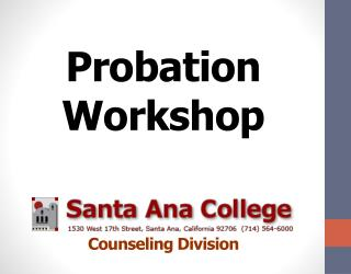 Probation  Workshop Counseling Division