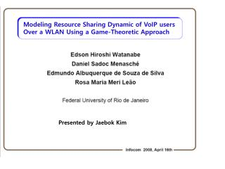 Modeling Resource Sharing Dynamic of VoIP users Over a WLAN Using a Game-Theoretic Approach
