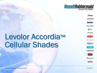 Levolor Accordia ™  Cellular Shades