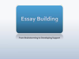 Essay Building