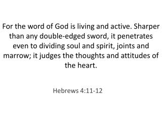 Hebrews 4:11-12