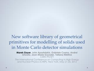 Motivations for  a common solids library