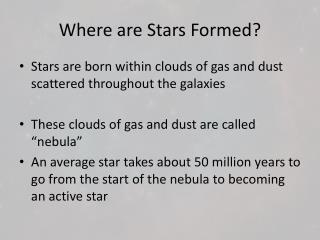 Where are Stars Formed?