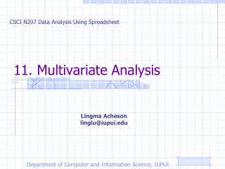 11. Multivariate Analysis