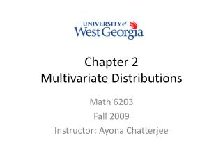 Chapter 2 Multivariate Distributions