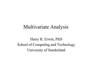 Multivariate  Analysis