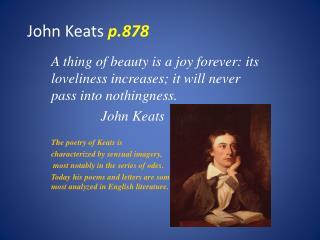John Keats  p.878