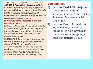 IVA en la Reforma Tributaria 2012