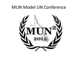 MUN Model UN Conference