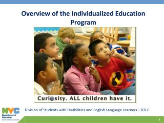 Division of Students with Disabilities and English Language Learners - 2012