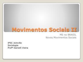 Movimentos Sociais II