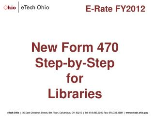 New Form 470  Step-by-Step for Libraries