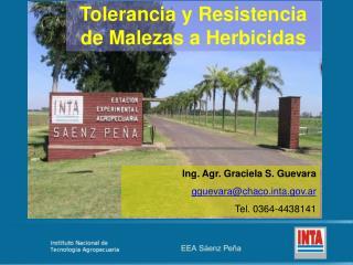 Tolerancia y Resistencia de Malezas a Herbicidas