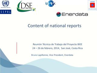 Content  of national reports