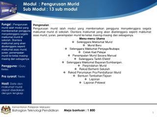 Kementerian Pelajaran Malaysia Bahagian Teknologi Pendidikan