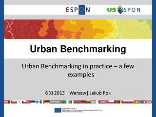 Urban Benchmarking
