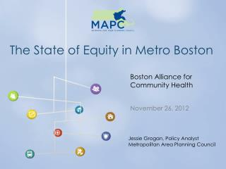 The State of Equity in Metro Boston