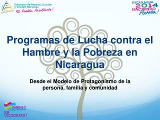 Programas de Lucha contra el Hambre y la Pobreza en Nicaragua