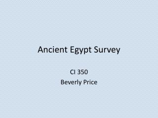 Ancient Egypt Survey