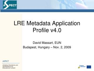 LRE Metadata Application Profile v4.0