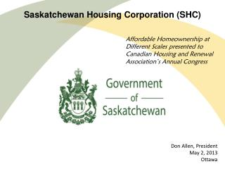 Saskatchewan Housing Corporation (SHC)