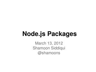 Node.js Packages