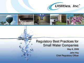Regulatory Best Practices for Small Water Companies